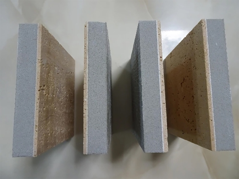 Travertine samples with Aerolite© System
